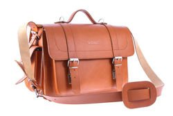 BIG leather satchel Vintage VOOC P22