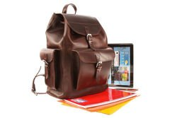 Huge leather backpack VOOC Vintage P40