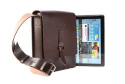 Unique Leather Tech Tablet Messenger Bag VOOC Vintage P8