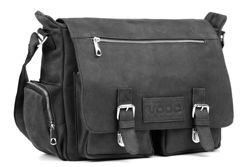 Unisex leather shoulder bag  VOOC URBAN RDW5
