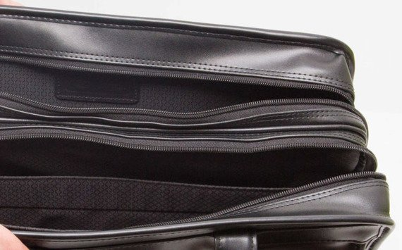 "15.6"" Leather Double Compartments Laptop Case Mcklein Hubbard"
