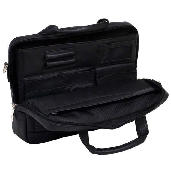 """15.6"""" Leather Medium Laptop Brief Mcklein Bronzeville"""