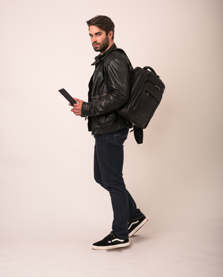 """15.6"""" Leather Three-Way Computer Backpack Brief Mcklein Lincoln Park"""