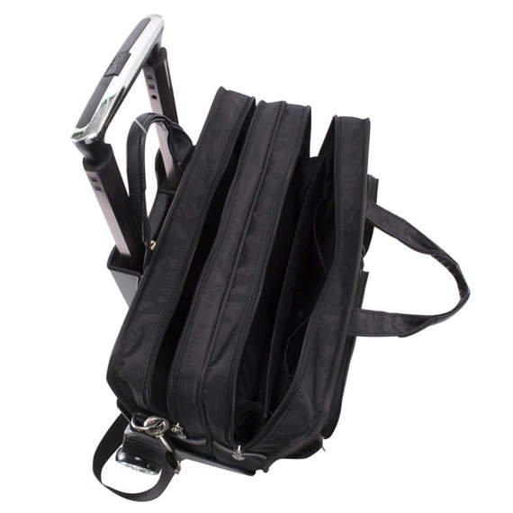 "17"" Nylon Detachable-Wheeled Laptop Case Mcklein Clinton"
