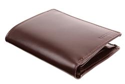 Brązowy portfel męski skórzany PPM2, kolor brązowy