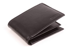Czarny portfel męski z wkładką PPM6