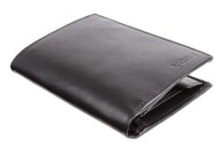 Czarny, prostokątny portfel męski PPM2