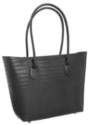 Duża włoska torebka damska skórzana na ramię Rovicky® A4