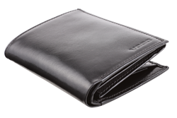 Duży, elegancki portfel skórzany męski PPM4 kolor czarny
