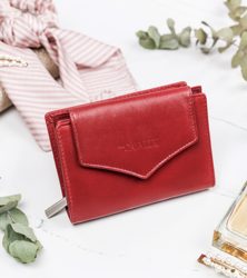 Mały portfel damski skórzany RFID stop Cavaldi®