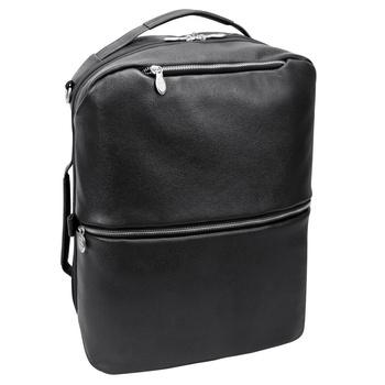 """Plecak, torba podróżna skórzana czarna East Side ze skóry naturalnej na laptopa 17"""""""