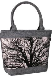 Pojemna torebka damska klasyczna filcowa A4 duża