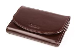 Praktyczny portfel damski o doskonałym wykończeniu, kolor: brązowy