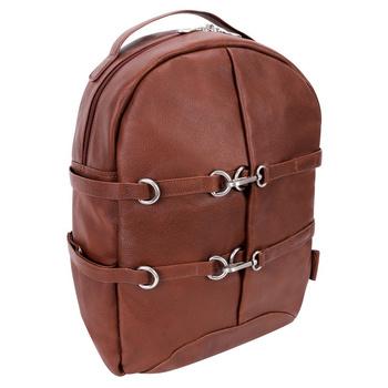 "Skórzany plecak brązowy Oakland na laptopa 15,6"""