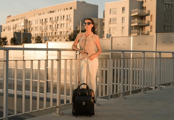 """Biznesowa Torba Damska z klamrą La Grange na laptopa 15,6"""""""