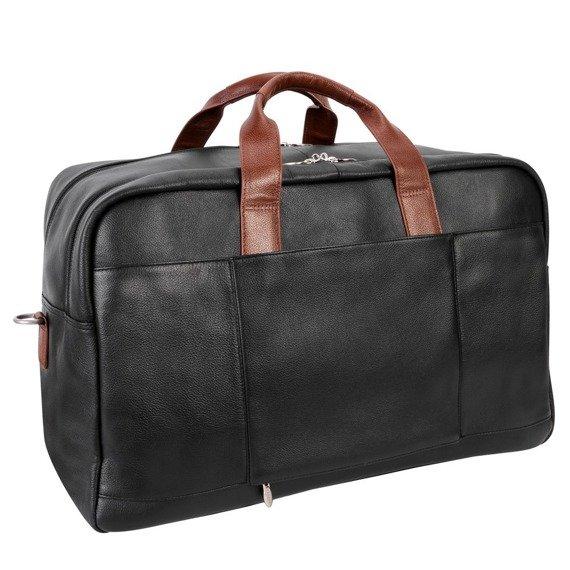"""Biznesowa męska torba skórzana na laptopa Wellington 21"""" kolor czarno brązowy"""
