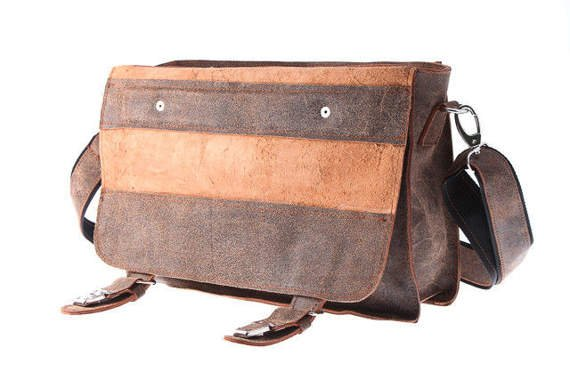 Brązowy old look bag