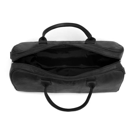 Czarna podróżna torba weekendowa ze skóry naturalnej brodrene bl10
