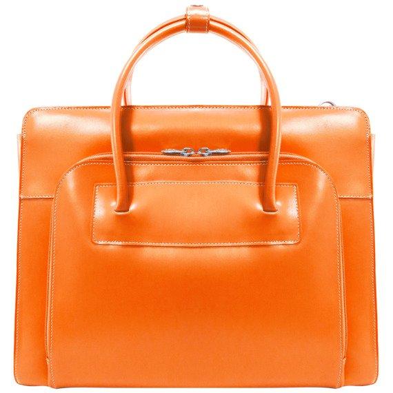 """Damska pomarańczowa aktówka na laptopa Lake Forest 15,6"""""""