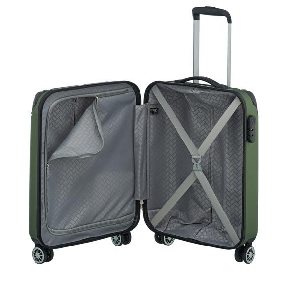 Komplet 3 walizek Travelite, ABS, 4 kółka