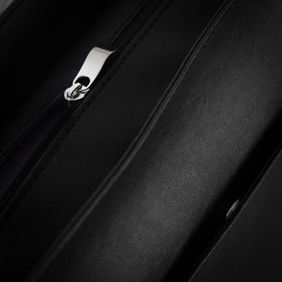 Męska czarna miejska torba na ramię Solier S11