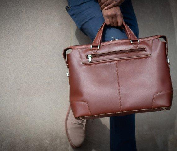 """Męska torba do ręki lub na ramię skóra naturalna Arcadia 17"""""""