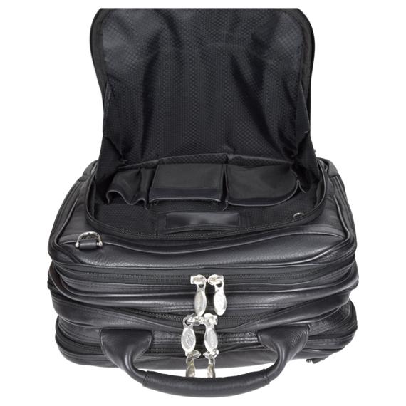 """Plecak męski, skórzany na laptopa Lincoln Park, czarny 15,6"""""""