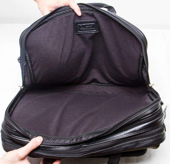 "Skórzana Torba na laptopa West Loop, kolor czarny 17"""