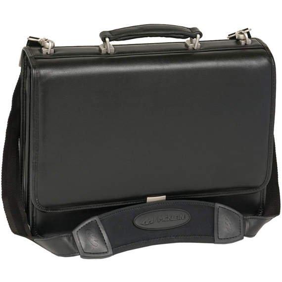 "Skórzana czarna teczka męska na laptopa 17"" Bucktown"