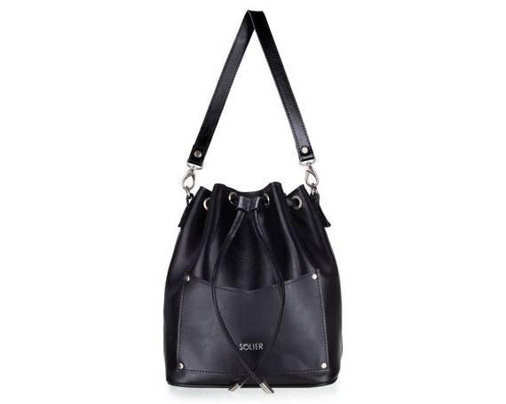 Skórzana torba damska listonoszka Nea FL19 czarna
