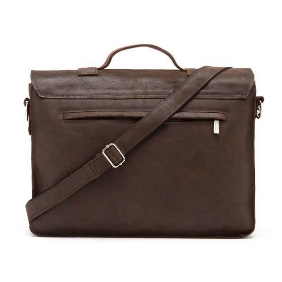 Skórzana torba na ramię Brodrene BL11XL ciemny brąz listonoszka