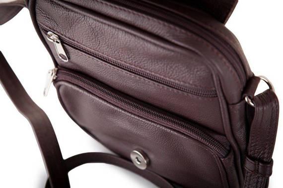 Skórzana torba na ramię, raportówka Solier SL32
