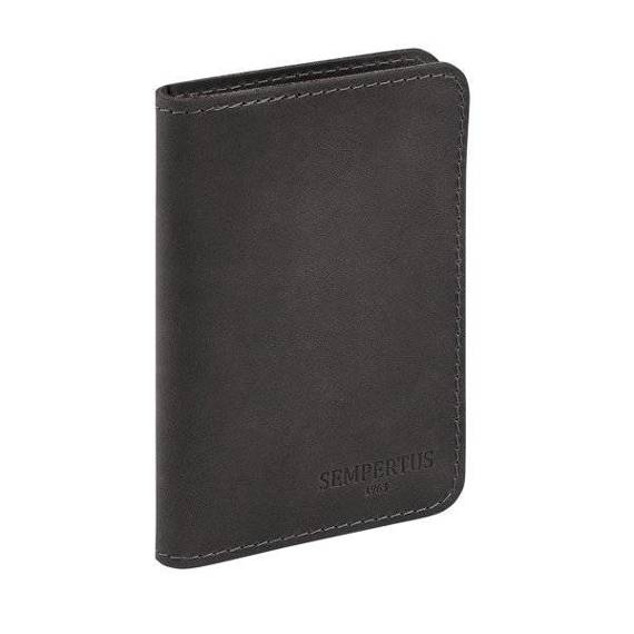Skórzany Cienki Portfel Męski Slim Wallet Sempertus PM-09/CH czarny