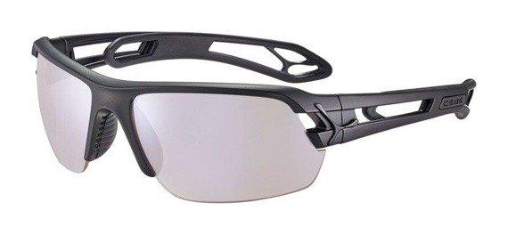 Sportowe okulary przeciwsłoneczne S'TRACK M MATT BLACK Sensor Vario Rose Cat.1-3 Silver AF Cebe
