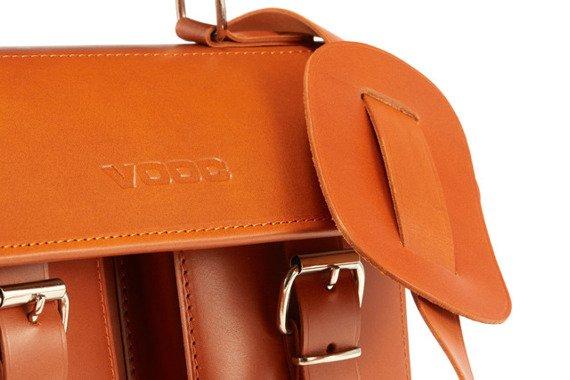Stylowa brązowa torba skóra naturalna kuferek Vintage P30