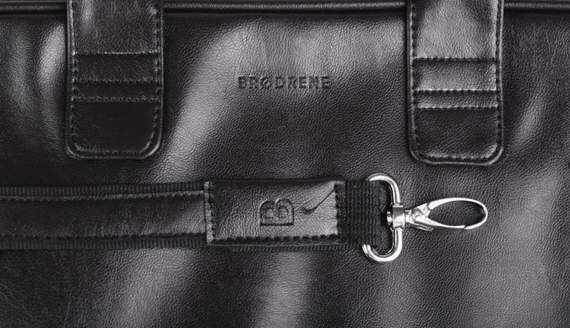Stylowa torba na ramię, czarna