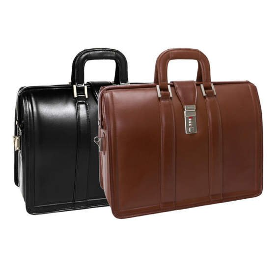 "Czarna biznesowa torba na laptopa 17"" Morgan"