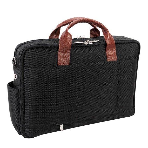 """Torba na laptopa z nylonu balistycznego Southport, kolor czarny 17"""""""