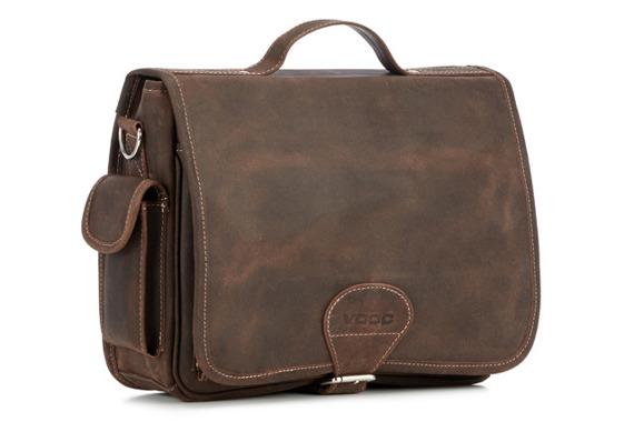 Torba skórzana na laptopa Casualowo-biznesowa torba RDW14 brązowa