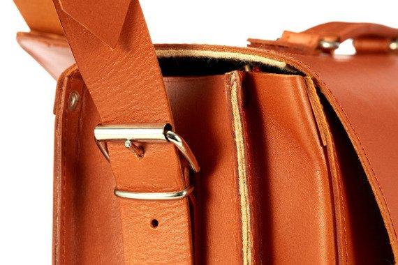 Torba skórzana z juchtu na ramię 3w1 Vintage P43