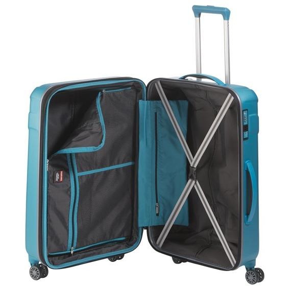 Walizka duża L Travelite Vector, ABS, 4 kółka turkusowa