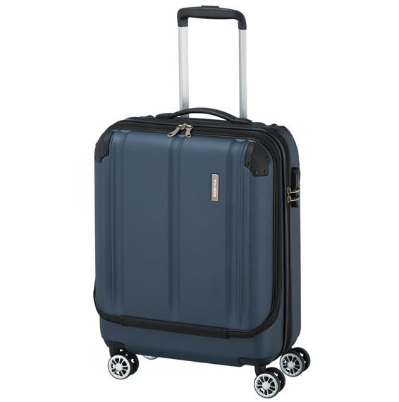 """Walizka mała na laptopa 15,6-17"""" Travelite City, 40 l pojemności, ABS, 4 kółka"""