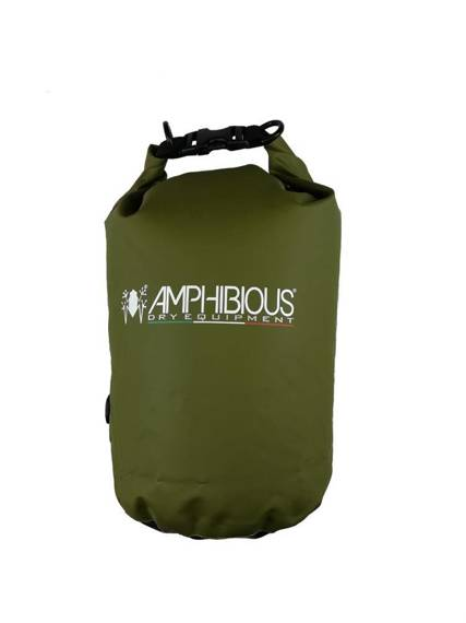 Worek sportowy wodoodporny  zielony, plecak AMPHIBIOUS TUBE 10L
