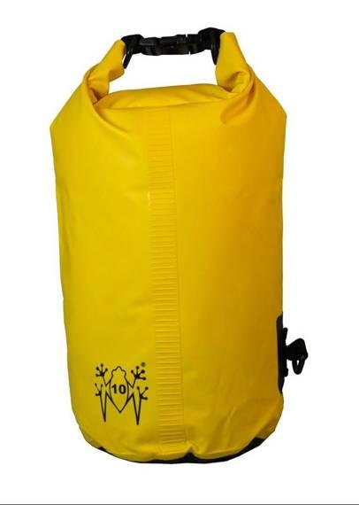 Worek sportowy wodoodporny żółty, plecak AMPHIBIOUS TUBE 10L